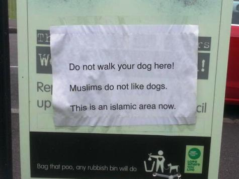 Sign in East London Park Says 'This Is An Islamic Area Now'