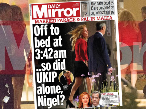 Daily Mirror Smears Farage for Helping Woman on Crutches Walk