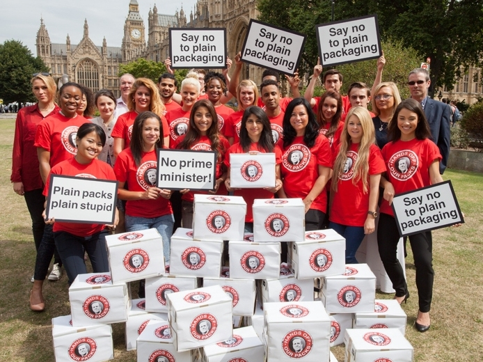 150,000 People Oppose Plain Packaging for Cigarettes in UK