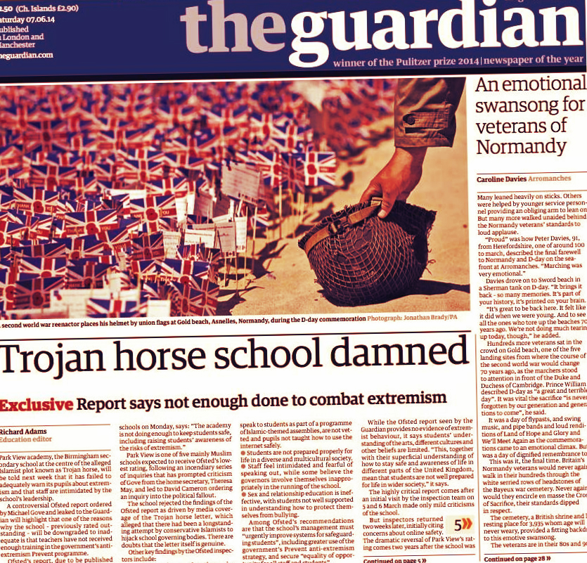 Telegraph: Guardian Ignored and Misrepresented Evidence of Islamist Plot