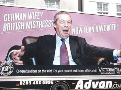 Nigel Farage Features in Ad for Extramarital Dating Site