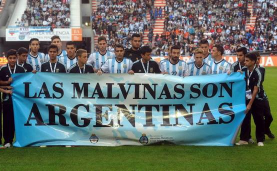 FIFA probe Argentina for Falklands Football Stunt