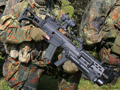 German army gives its soldiers a gun that can't shoot straight