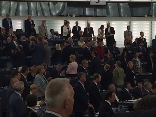 VIDEO: UKIP MEPs Turn Backs on European Parliament Opening Ceremony