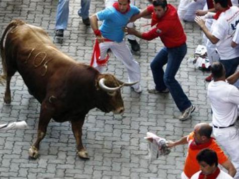 Breakaway Bull Gores Two Men in Closing Pamplona Run