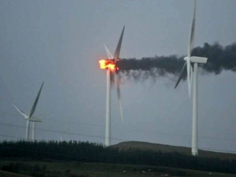 Wind Turbine Fires 10 Times More Common than Previously Thought