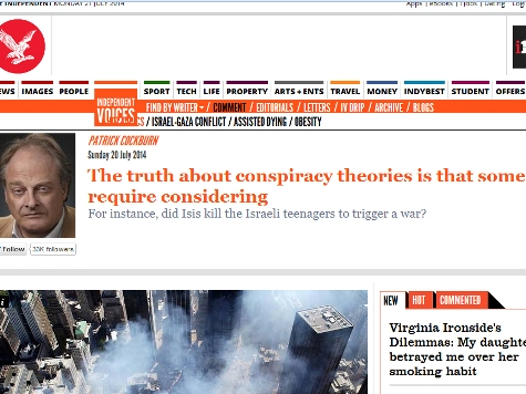 Independent Newspaper Pushes Conspiracy Theory on Gaza, 9/11