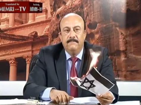 WATCH: Jordanian TV Host Burns Israeli Flag Live on Air