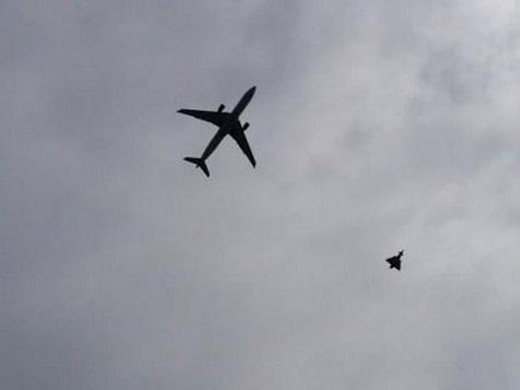 RAF Escorts Qatar Airways Flight Into Manchester Airport After Passenger Bomb Hoax