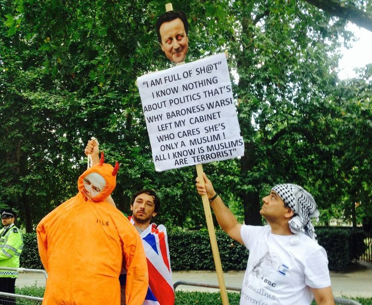 Hezbollah & Iran Flags, Netanyahu Effigies, and Cameron's Head on a Stick: London's Latest Anti-Israel Protest