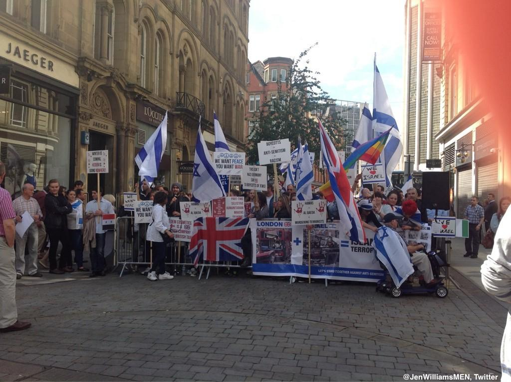 REPORT: Gaza Activist Arrested After Nazi Salute in Front of Pro-Israel Group In Manchester