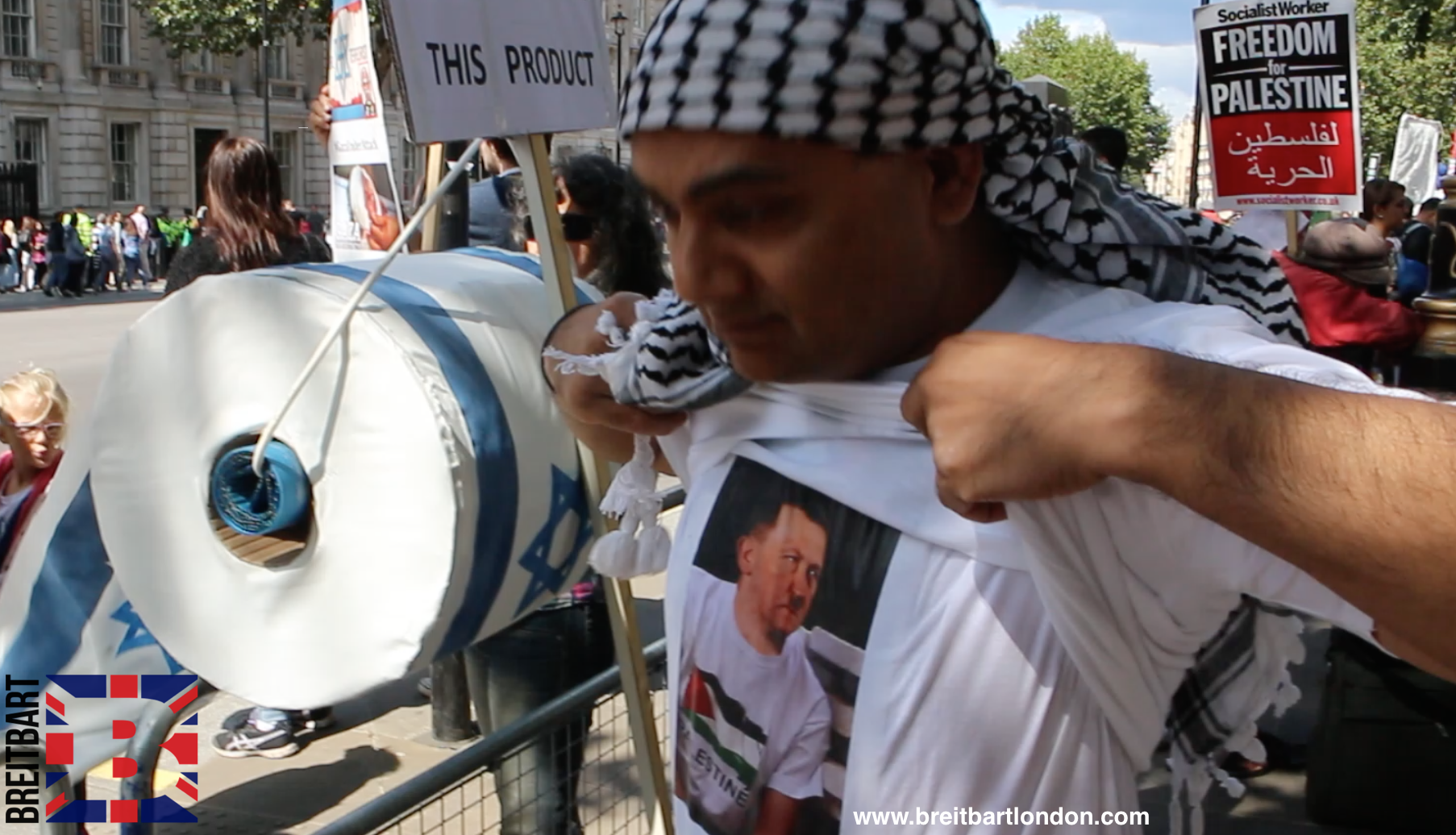 EXCLUSIVE VIDEO: Anti-Israel Protesters Defend Hitler, Police Eject Pro-Israel Man