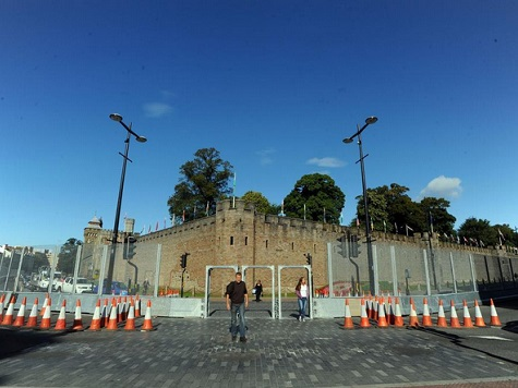 Medieval Cardiff Castle Reinforced Amidst ISIS Threat To NATO Summit