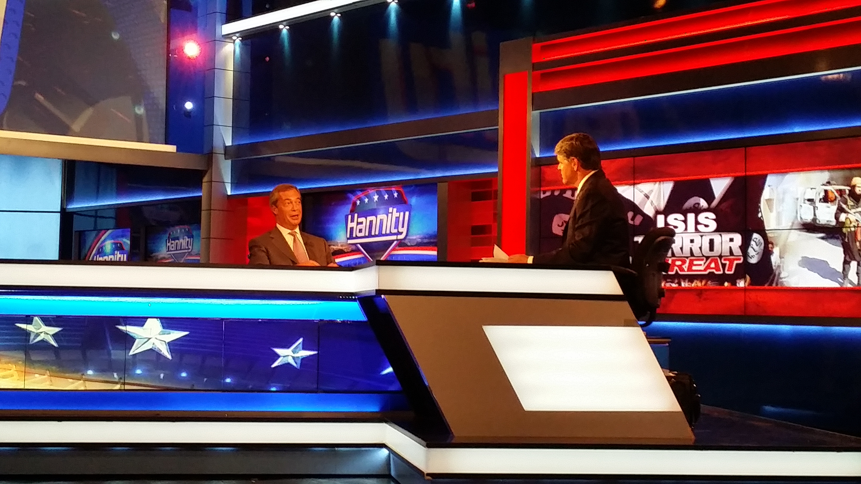 WATCH: Nigel Farage on Fox News' Hannity Show… 'Cameron is Following My Lead'
