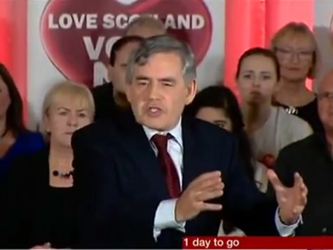 WATCH: Gordon Brown's Epic Speech About Saving The Union #indyref