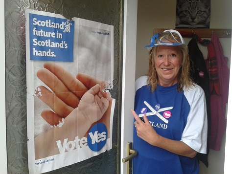 Scottish Yes Poster Eaten By Unionist Snails #indyref