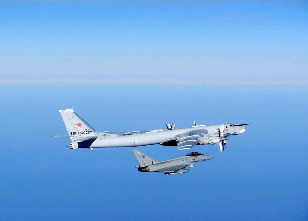 RAF Typhoons Scrambled to Intercept Russian Bears