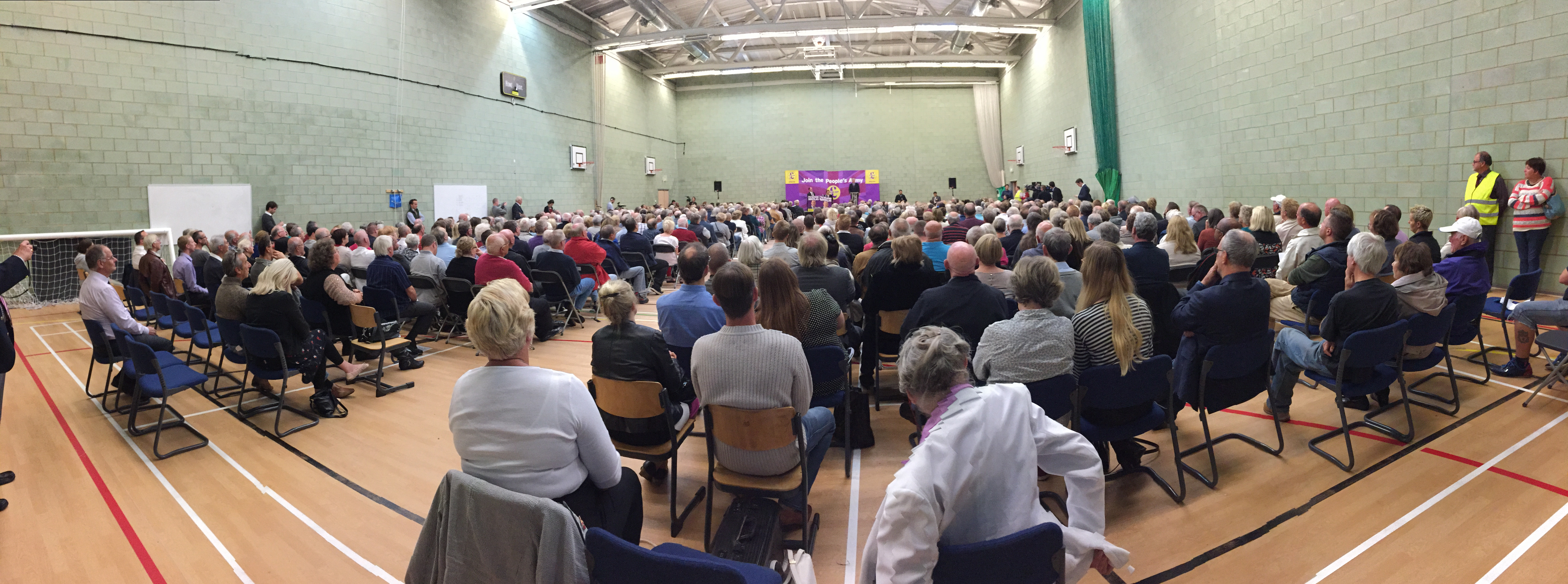 'Come and Join the Clacton Battalion of Our People's Army' Declares Farage at 1000-Strong UKIP Rally