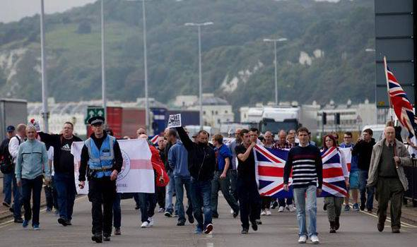 Nationalist Groups Protest in Dover Over Threat to Hauliers Posed by Illegal Immigrants