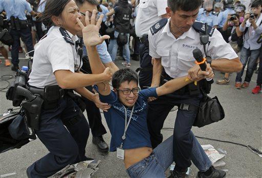 Hong Kong Protests Shrink after Leader OKs Talks