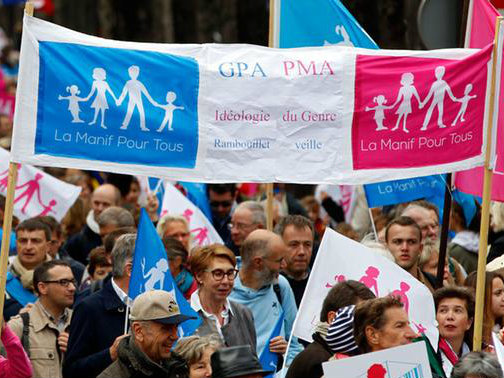 Tens of Thousands Take to the Streets of France in Defence of Traditional Family Values