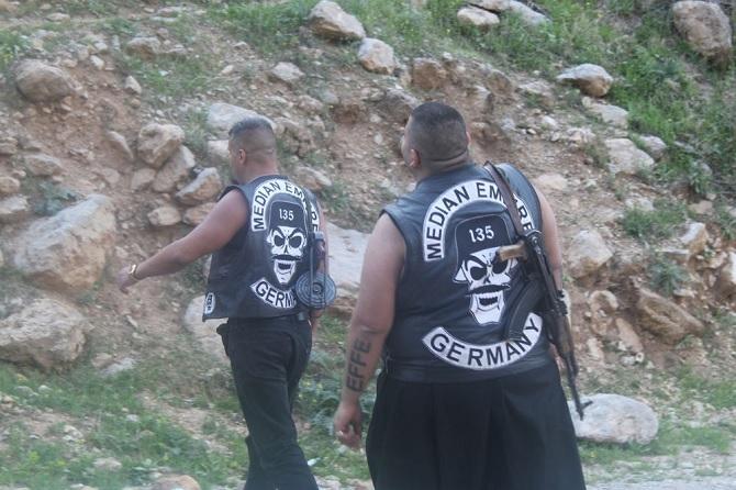 German Motorcycle Gang Members Fighting For Kurds