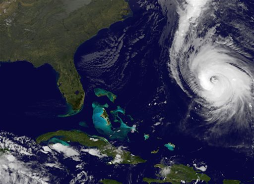 Powerful Hurricane Gonzalo Approaching Bermuda