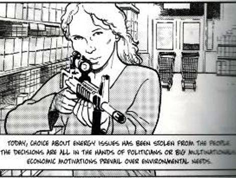 Splattergate II: Green Graphic Novel Celebrates Eco-Terrorism Shopping Mall Killing Spree