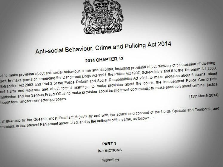 UK Enacts Draconian Anti-Social Behavioural Laws