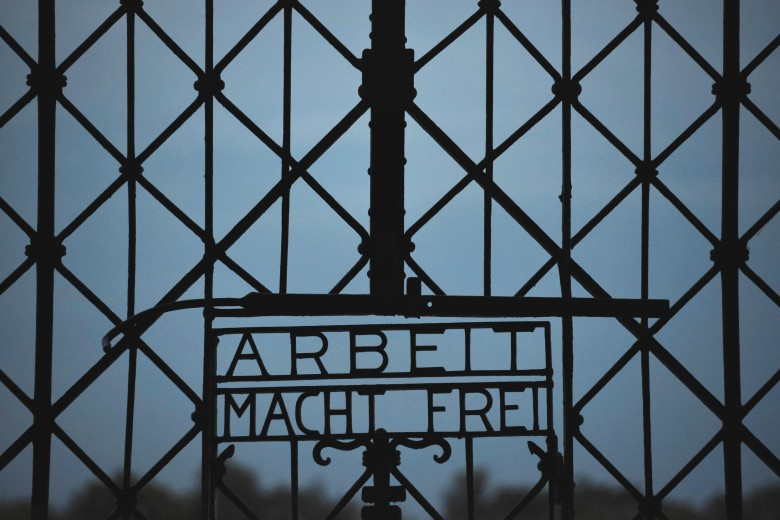 Infamous 'Arbeit Macht Frei' Sign Stolen from Dachau Concentration Camp