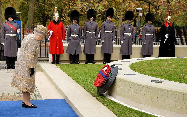 Queen Opens Garden with World War I Battlefield Soil