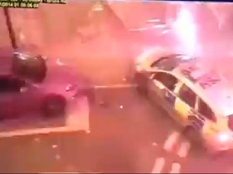 WATCH: Muslim Youths Rocket Attack London Police