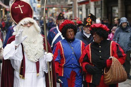 60 Arrests in Protests over Blacked-Up Christmas Character in Netherlands