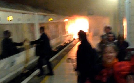Central London Rail Station Evacuated after Fire