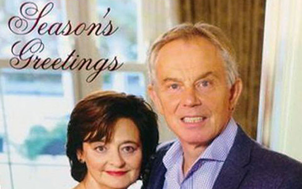 Blair Christmas Card Mocked On Twitter