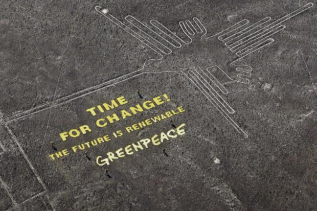 Greenpeace in PR Disaster as Group Accused of Desecrating Nazca Lines