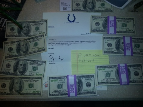 Colts Owner Sends Twitter Fan $8500 in Cash for Guessing AFC Title Game Score
