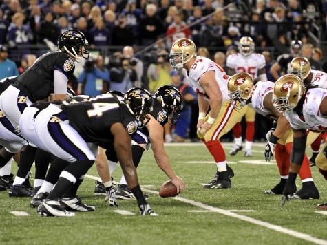 Halftime: Baltimore Ravens 21, San Francisco 49ers 6