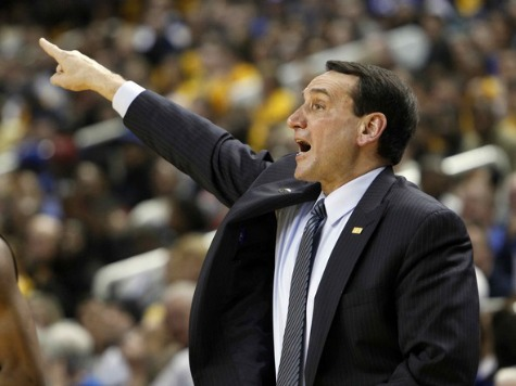 Coach K: 'Not All Fun and Games' When Students Rush Court