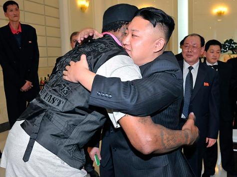 Rodman Hugs North Korean Dictator, Calls Kims 'Great Leaders'