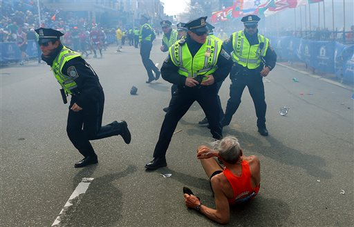 78-Year-Old Runner Knocked Down by Boston Blast