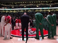 Celtics Back on Court in Toronto, Offer Tribute to Victims