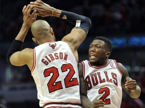 Nate Robinson Leads Bulls Past Nets to 3-1 Lead in Bruising Triple OT Thriller