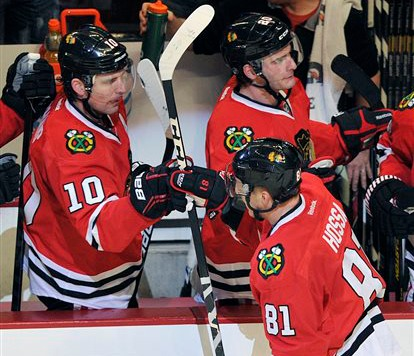 Blackhawks Take 1-0 Lead, But Wild Lose Goalie