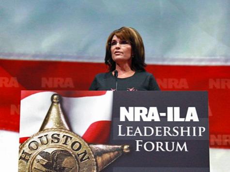 Palin to NRA: Media Allow Obama to Exploit Tragedies to Push Gun Control