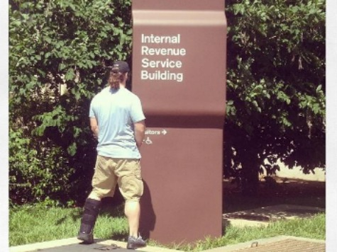 NFL Player Pees on IRS Sign: 'Audit This'
