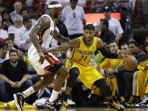 George Leads Pacers' Upset of Heat