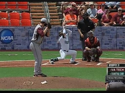 Coastal Carolina Baseball Player Generating Buzz with Insane Batting Stance