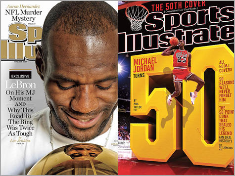 James Chases Jordan with 20th SI Cover