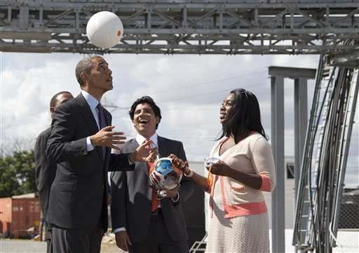 Obama Pushes Magic Soccer Ball in Africa